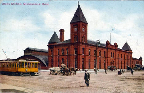 Union Station, Minneapolis Minnesota, 1912