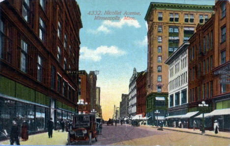 Nicollet Avenue, Minneapolis Minnesota, 1920's