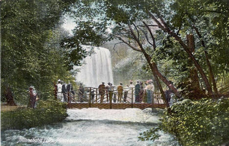 Minnehaha Falls, Minneapolis Minnesota, 1909