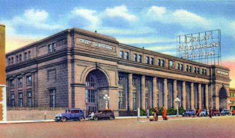 Great Northern Railway Depot, Minneapolis Minnesota, 1937