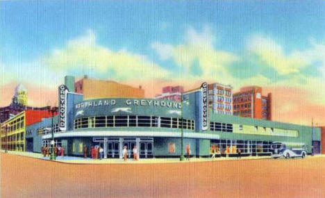 Greyhound Bus Depot, Minneapolis, Minnesota, 1937