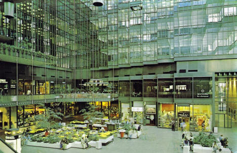 Crystal Court in the IDS Center, Minneapolis Minnesota, 1970's