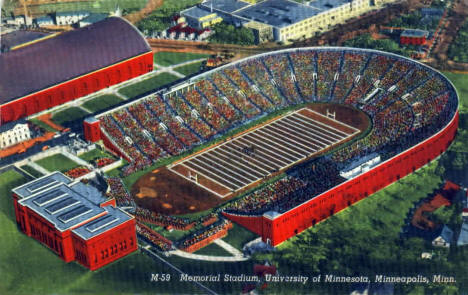 Memorial Stadium, University of Minnesota, Minneapolis Minnesota, 1940