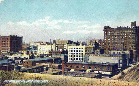 Business District, Minneapolis Minnesota, 1905