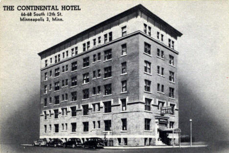 Continental Hotel, Minneapolis Minnesota, 1950's?