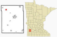 Location of Minneota, Minnesota