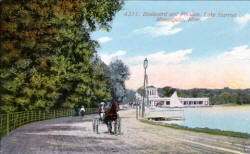 Lake Harriet Boulevard with Pavilion in background