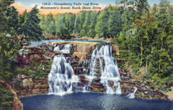 Gooseberry Falls on Minnesota's North Shore of Lake Superior, 1949