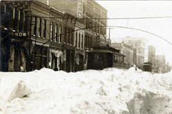 Snow on Front Street, Mankato Minnesota, 1925