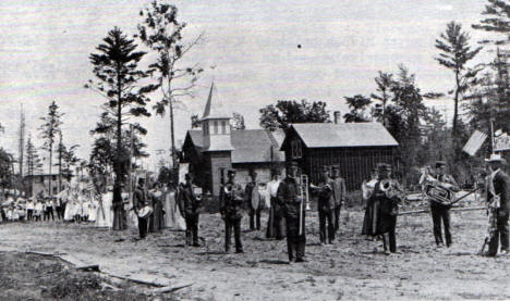 Independence Day Parade, Mizpah Minnesota, 1902