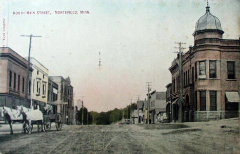 North Main Street, Montevideo Minnesota, 1910's?