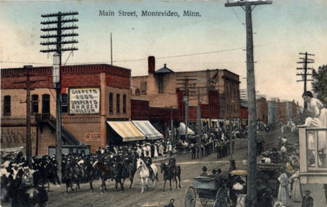 Parade, Main Street, Montevideo Minnesota, 1909