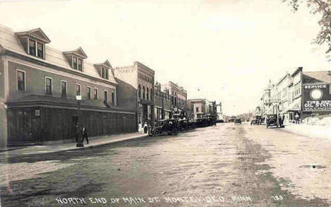 North End of Main Street, Montevideo Minnesota, 1920
