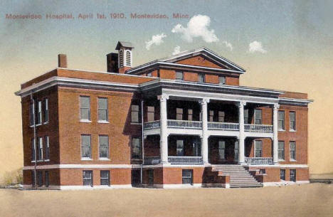 Montevideo Hospital, Montevideo Minnesota, 1910