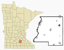 Location of Montgomery, Minnesota