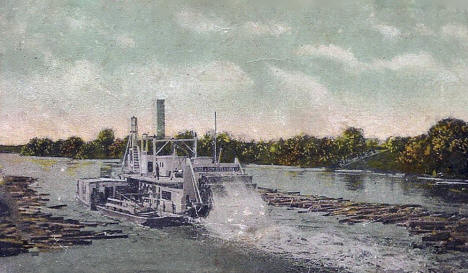 Mississippi River at Monticello Minnesota, 1910's