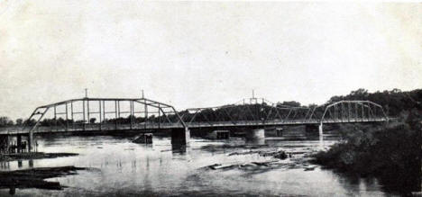 Draw Bridge across the Mississippi River, Monticello Minnesota, 1908