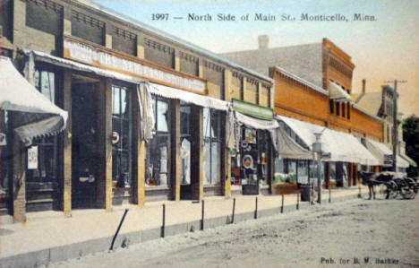 North Side of Main Street, Monticello Minnesota, 1913