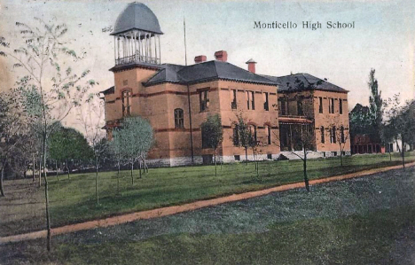 High School, Monticello Minnesota, 1909
