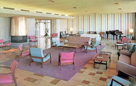 Main Lounge, Dahl Hall Women's Residence, Moorhead State College, 1960's