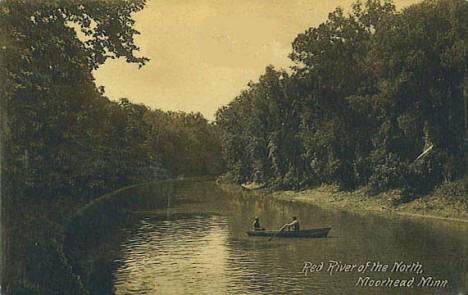 Red River of the North, Moorhead Minnesota, 1910