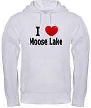 I Love Moose Lake Hooded Sweatshirt