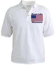 Moose Lake US Flag Golf Shirt