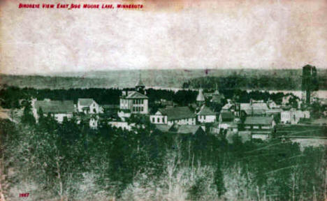Birds Eye View of Moose Lake Minnesota, 1909