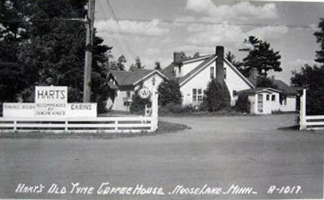 Hart's Old Tyme Coffee House, Moose Lake Minnesota, 1950's