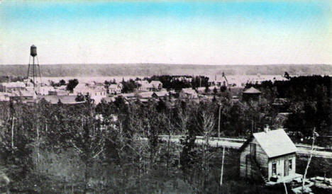 Birds eye view, Moose Lake Minnesota, 1913