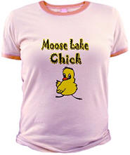 Moose Lake Chick Jr. Ringer T-Shirt