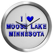 Moose Lake Winter Modern Wall Clock