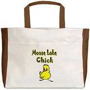 Moose Lake Chick Beach Tote