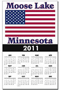 Moose Lake US Flag Calendar