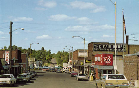 Street Scene, Moose Lake Minnesota, 1960's