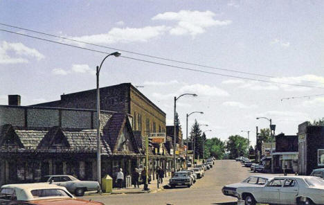 Street scene, Moose Lake Minnesota, 1970's