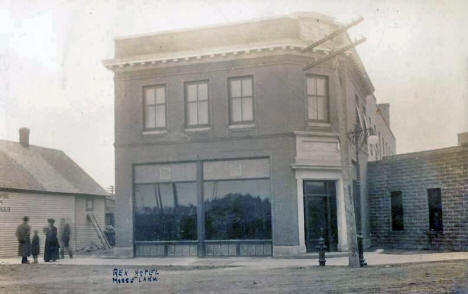 Rex Hotel, Moose Lake Minnesota, 1910's
