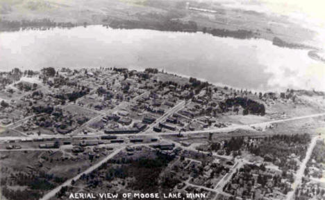 Aerial view, Moose Lake Minnesota, 1944