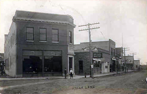 Street Scene, Moose Lake Minnesota, 1910's