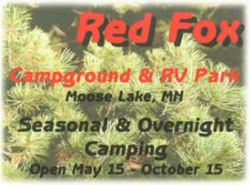Red Fox Campgrounds & RV Park, Moose Lake Minnesota