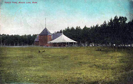 Public park, Moose Lake Minnesota, 1908