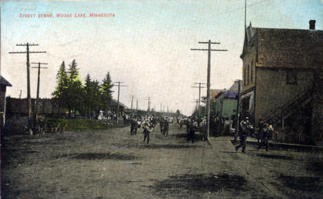 Street scene, Moose Lake Minnesota, 1909