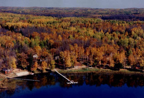 Aerial View of Moose Lake Resort, Deer River Minnesota, 2007