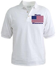 Mora US Flag Golf Shirt