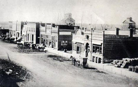 Main Street, Morgan Minnesota, 1911