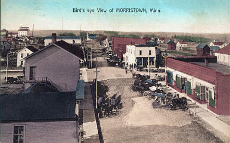 Birds eye view of Morristown Minnesota, 1908