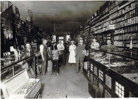 S.D. Stebbins Grocery and Hardware, Morris Minnesota, 1915