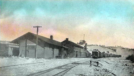 Railroad Yard, Morton Minnesota, 1914