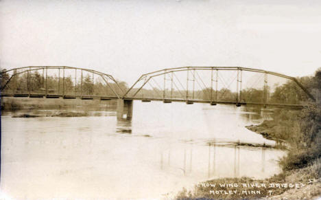 Crow Wing River Bridge, Motley Minnesota, 1921