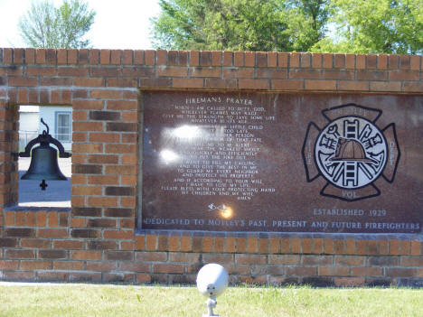 Firefighters Monument, Motley Minnesota, 2007